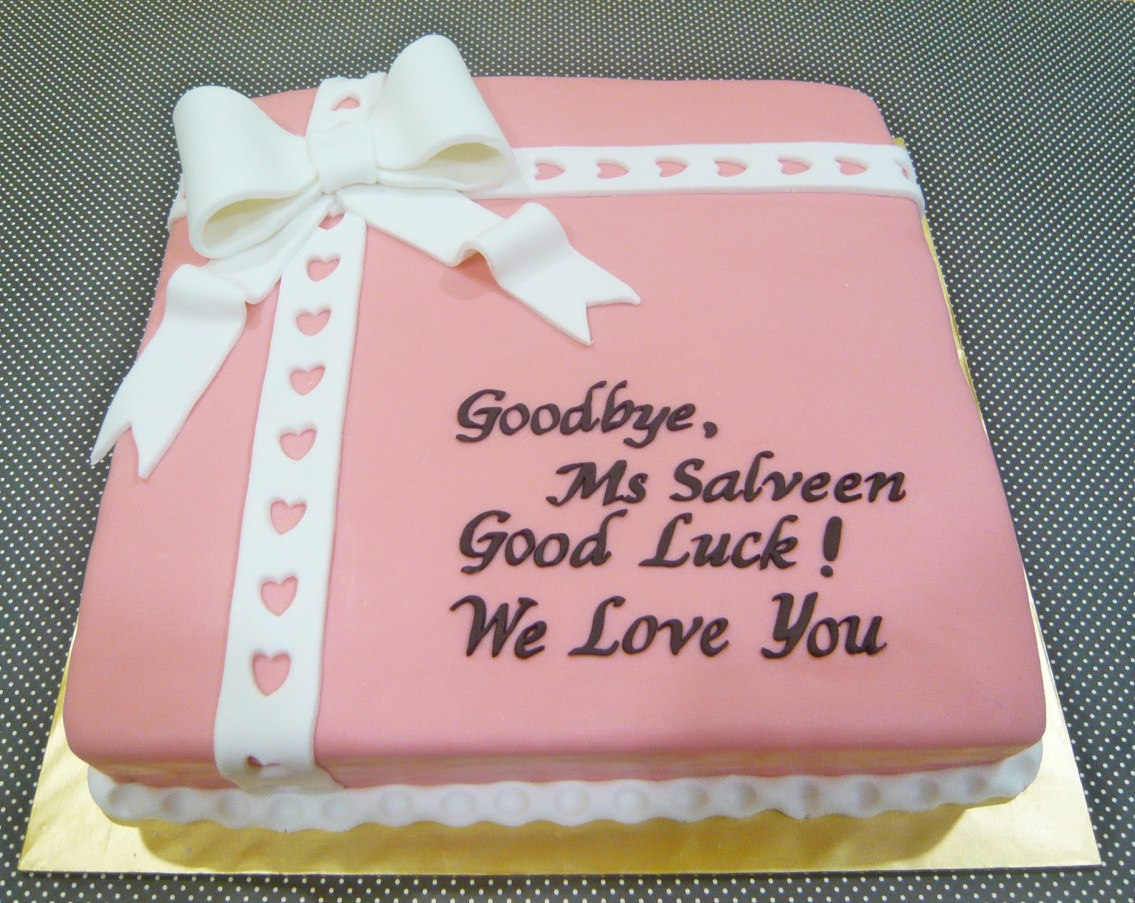 Farewell Cake Decorating Ideas