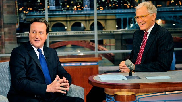 David Cameron on Late Show David Letterman