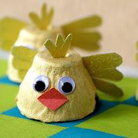 Ideias de reciclagem com cartela de ovos