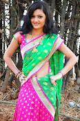 Pujitha sizzling in half saree-thumbnail-19