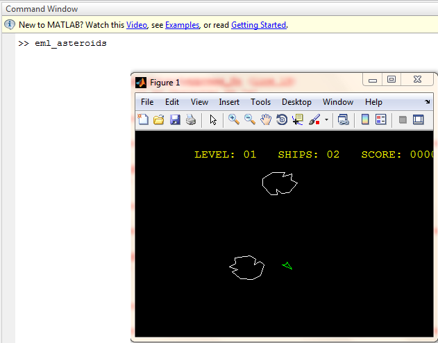 "matlab ""eml_asteroids"" command"
