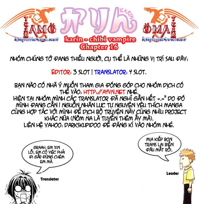 Karin - Chibi Vampire Chap 16 - Next Chap 17