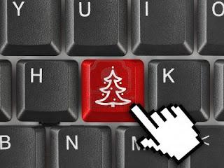 Klawiatura komputerowa z klawiszem choinki