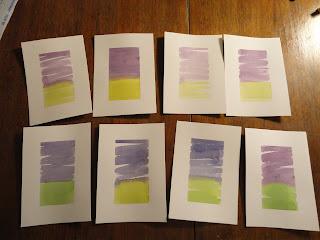 Green and purple watercolour backgrounds