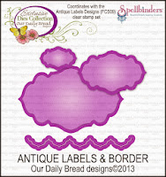 ODBD Custom Antique Label and Border Die Set
