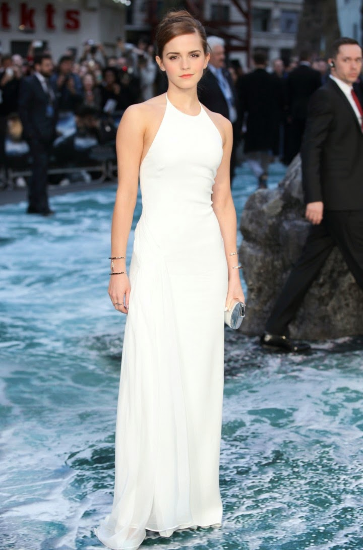 Emma Watson in a Ralph Lauren Collection look at the 'Noah' premiere in London