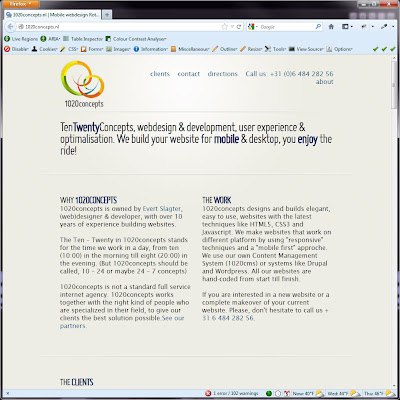 Screen shot of http://1020concepts.nl/.