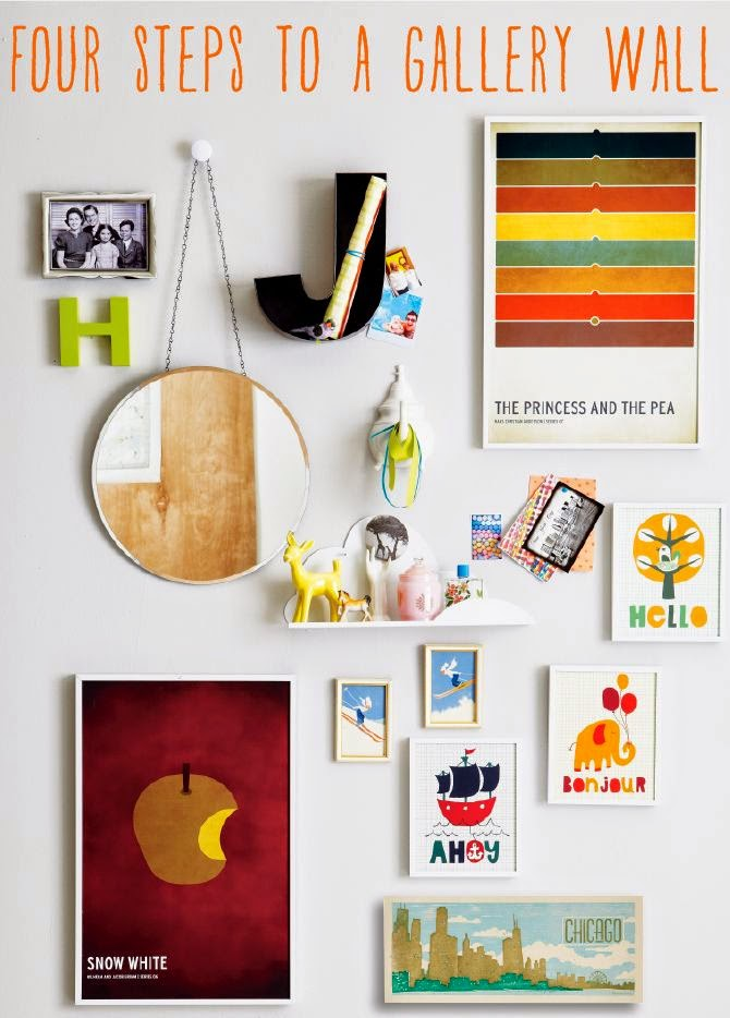 http://blog.landofnod.com/honest-to-nod/2013/01/four-steps-to-a-gallery-wall-.html