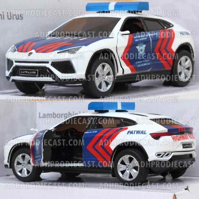 Miniatur Lamborghini Urus Patwal Polisi Indonesia