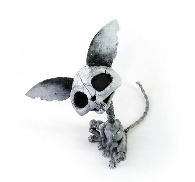 Green Pear Diaries, arte, escultura, reciclaje, metales, Igor Verniy, steampunk, cyberpunk