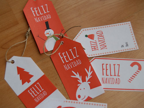 etiquetas navidad imprimibles