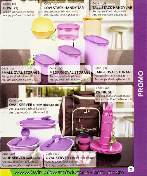 Promo Buy 2 Get 1 Free Tulipware | Juli - Agustus 2014