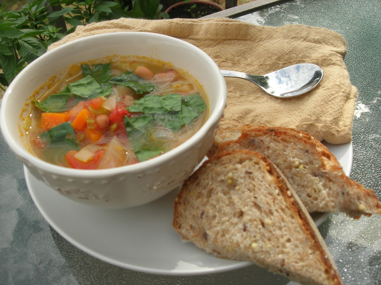 vital vegan garden vegetable soup with blackeyed peas and