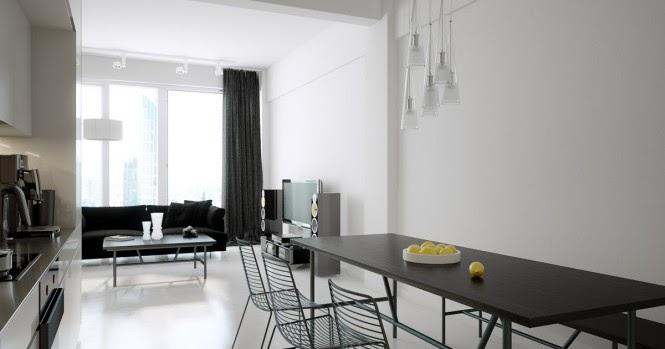 Dise o de interiores arquitectura modernos lofts for Disenos de interiores en blanco y negro