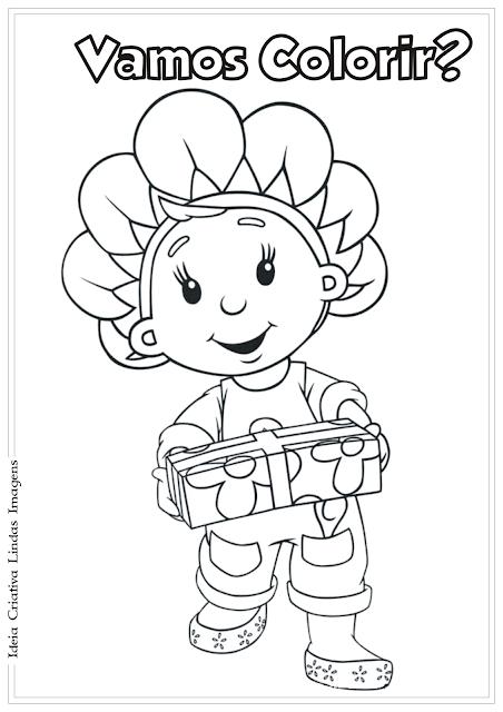 Fifi e os Floriguinhos desenho para colorir