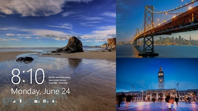 Windows 8.1 - Lock Screen Window