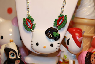 Hello Kitty Happy St Patrick's Day cute necklace