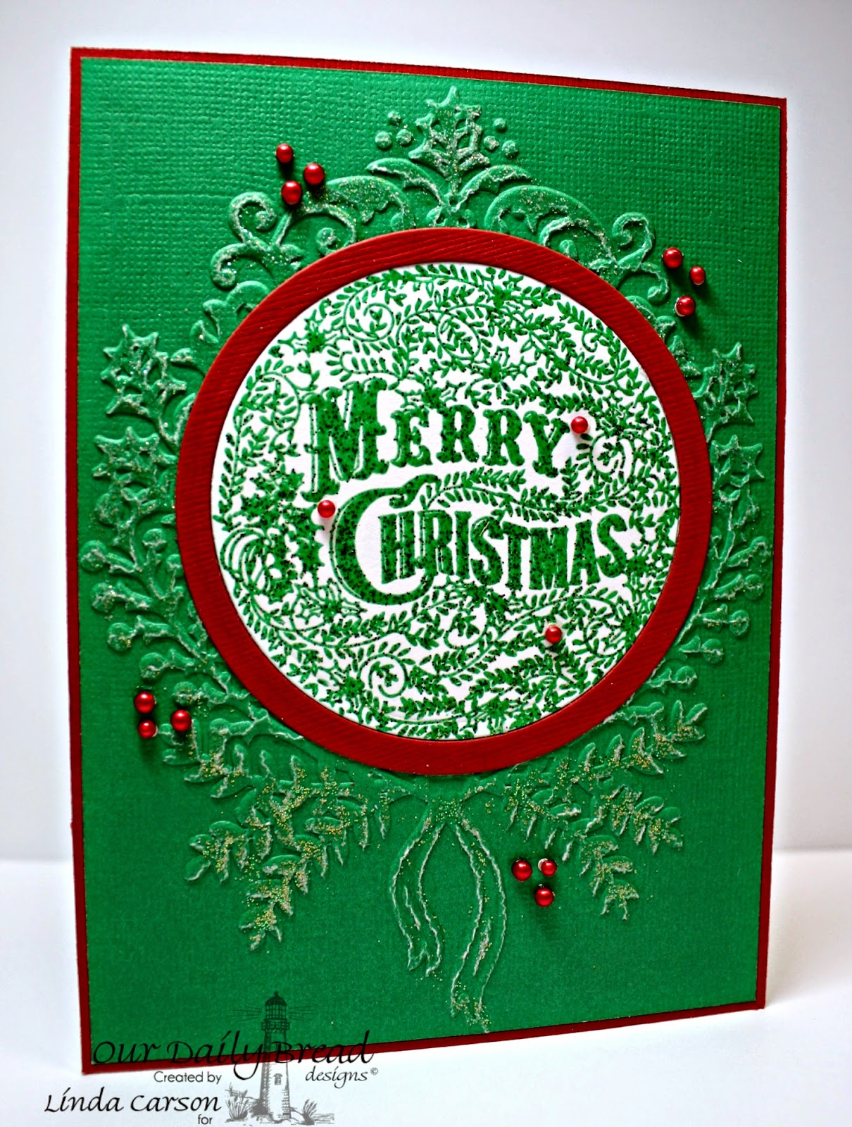 ODBD, Merry Christmas Ornament, Linda Carson
