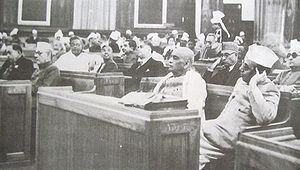 monday the 8th november 1948 the assembly then adjourned till ten of