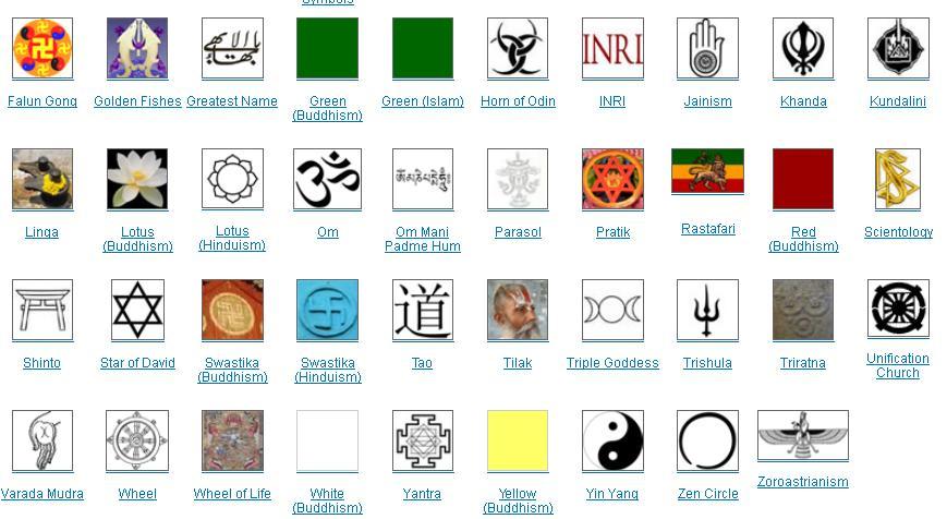 Religious Symbols Gallery World Beliefs