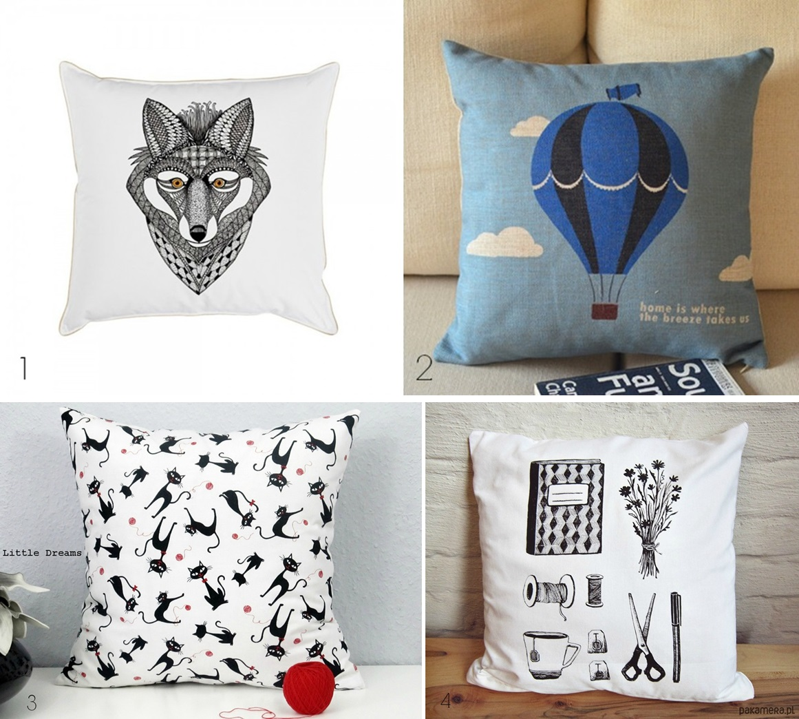 1. In love with - pillows.