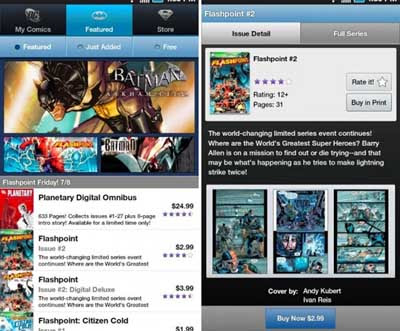 DC Comics Android App Available at Android Market