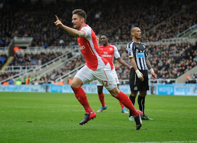 Giroud, o carrasco do Newcastle