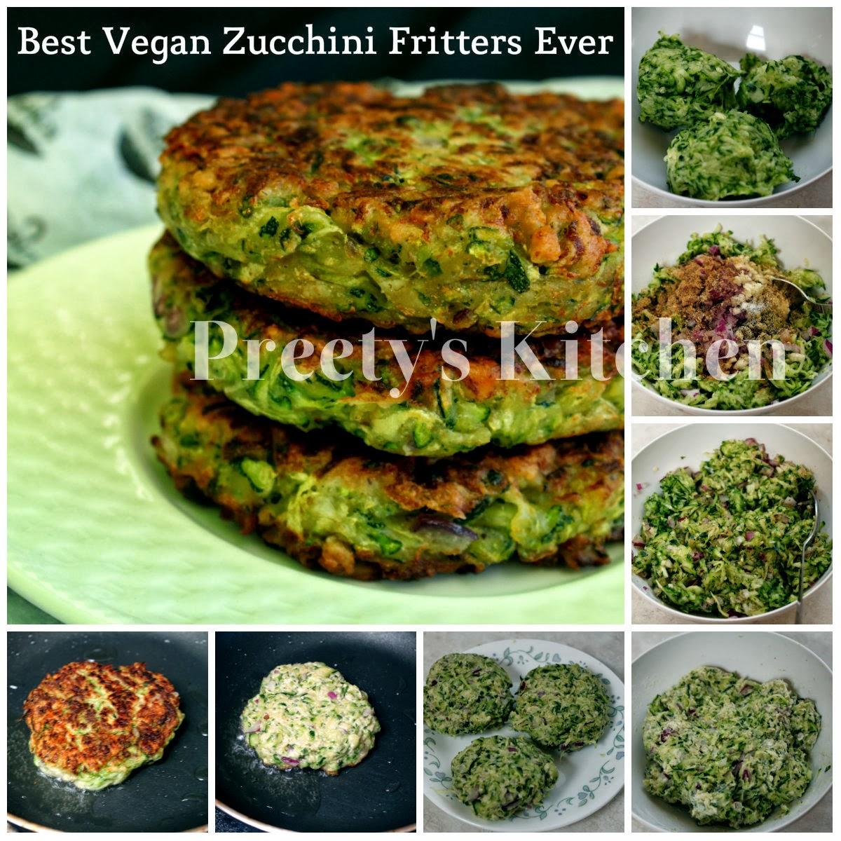 Preetys kitchen best vegan zucchini fritters ever forumfinder Gallery