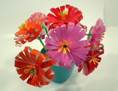 flores feitas com copos descartáveis