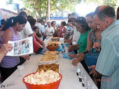 Café com bolo no Festejo
