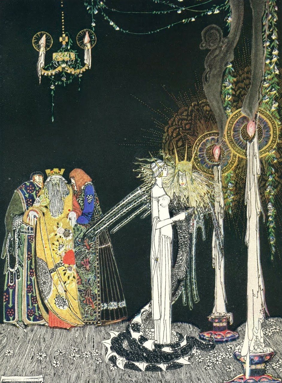 Kay Nielsen, Baśnie norweskie, Baśnie Andersena, Charles Perrlaut, ilustracje do baśni, Piękne ilustracje, Mateusz Świstak, Baśnie na Warsztacie