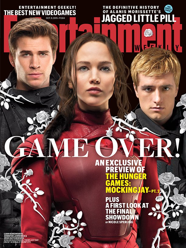 mockingjay part 2 entertainment weekly cover hunger games jennifer lawrence