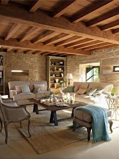 casa de piedra salon