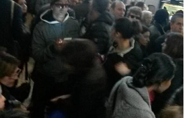 Le banchine della metro di Roma