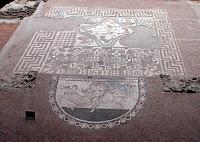 Mosaico procedente de la Villa romana de Lullingstone en Farningham (Kent, Gran Bretaña)