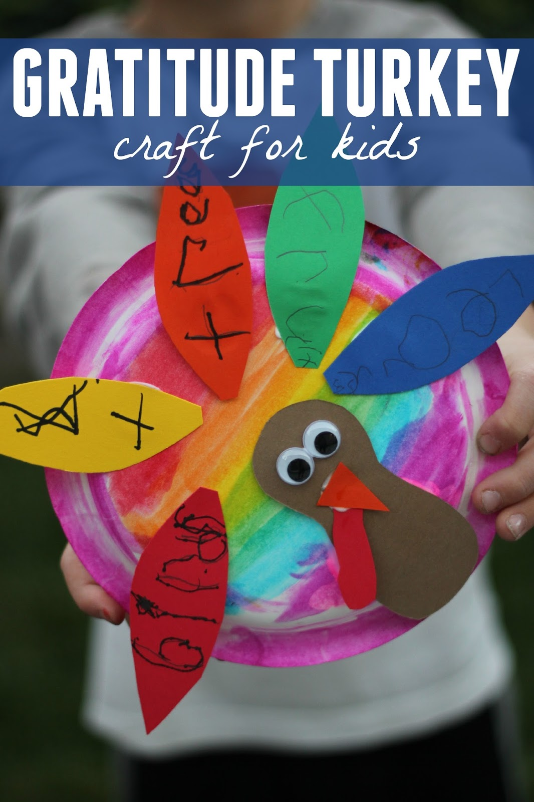 MATERIALS NEEDS FOR TURKEY CRAFT & Toddler Approved!: Easy Turkey Paper Plate Gratitude Craft