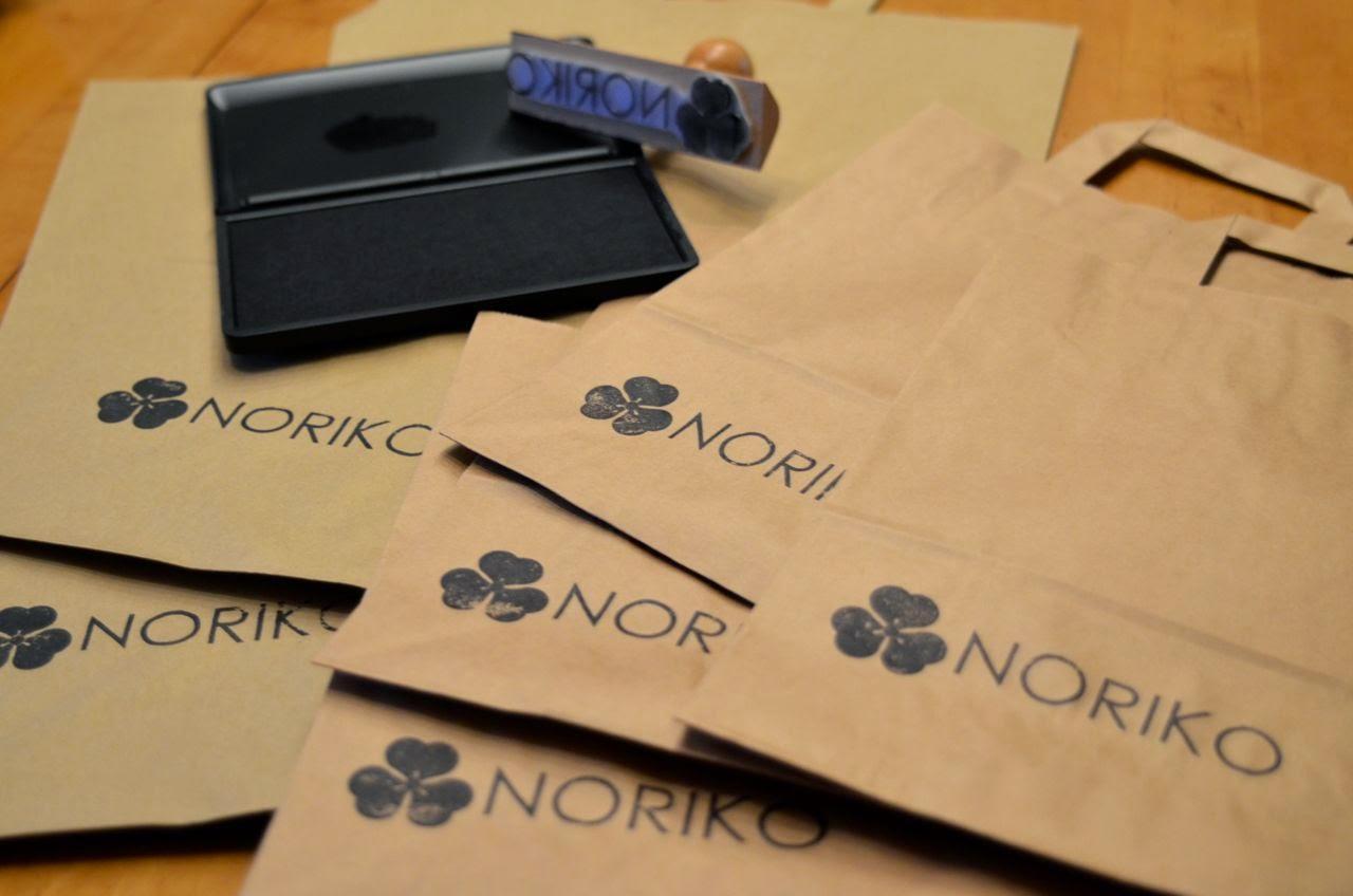 Noriko handmade Stempel zum Papiertüten bedrucken, DIY, Japan, Design