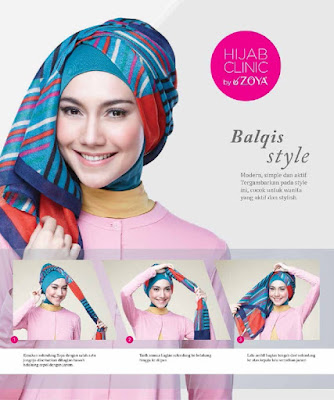 Tutorial hijab segi empat trend masa kini