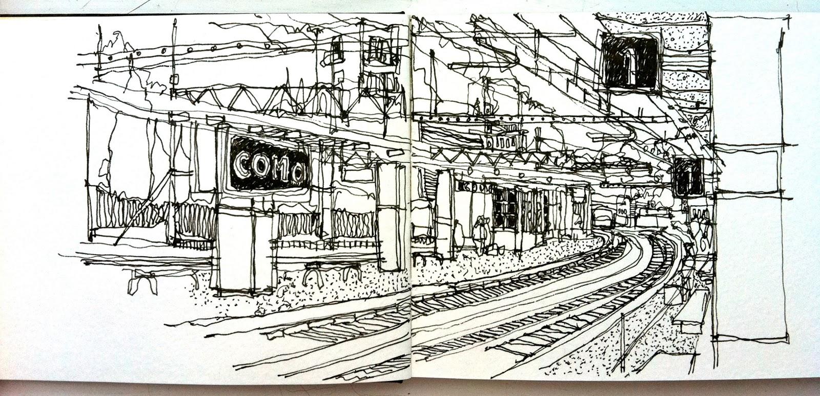 railway station sketch perspective wwwpixsharkcom