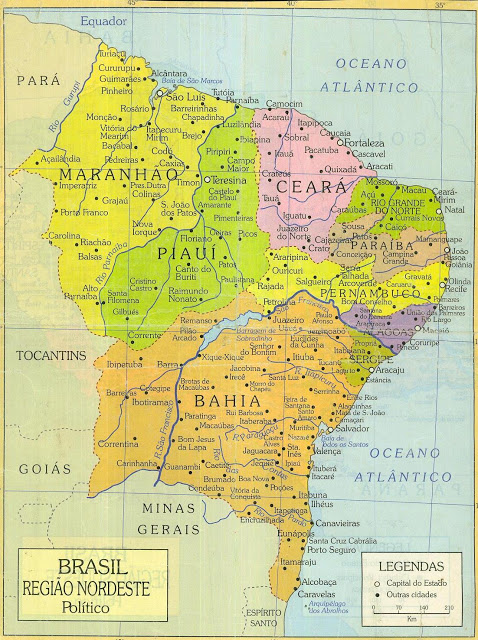 ESTE ANO  O ALMANAQUE DO SERTÃO  DISTRIBUI  O MINI MAPA DO NORDESTE