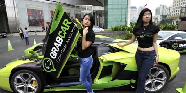 Wow! Enaknya Naik Lamborghini GrabTaxi Gratis, Dengan SPG HOT