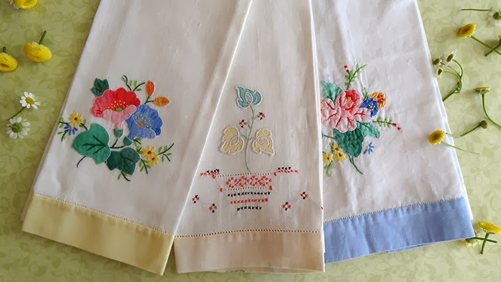 Needlework Photography And Vintage Tea Towels
