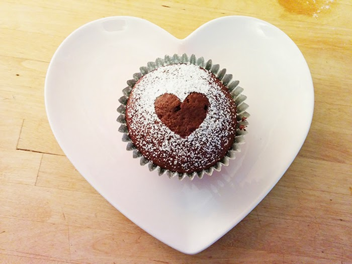 Chocolate Cupcakes Melt in Middle Recipe Valentines Treat Dessert Heart Love Anniversary