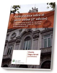 Guía práctica sobre el Juicio Verbal 2ª Ed. Disponible en Libreria Cilsa de Alicante.
