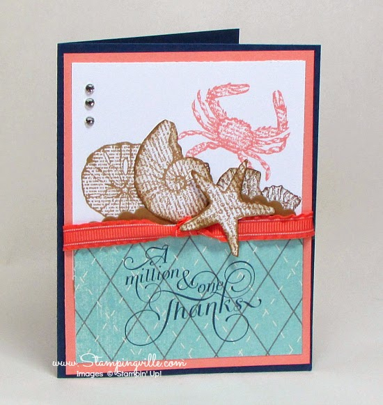 Stampin' Up! By The Seashore Thanks a Million Card