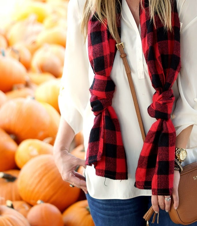 Buffalo plaid check scarf