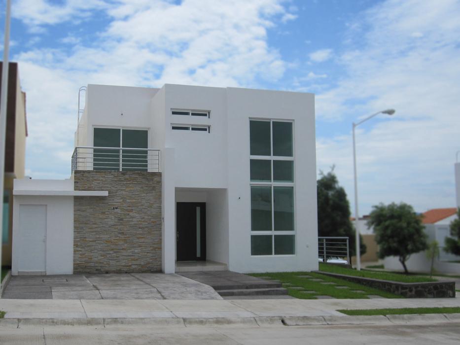 Fachadas minimalistas fachadas minimalistas modelo b5 en for Casa minimalista 3 pisos