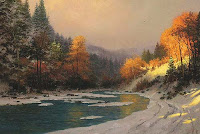 Thomas Kinkade Autumn Snow2