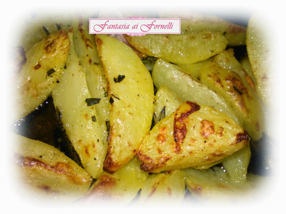 patate al forno, croccanti fuori e morbide dentro!