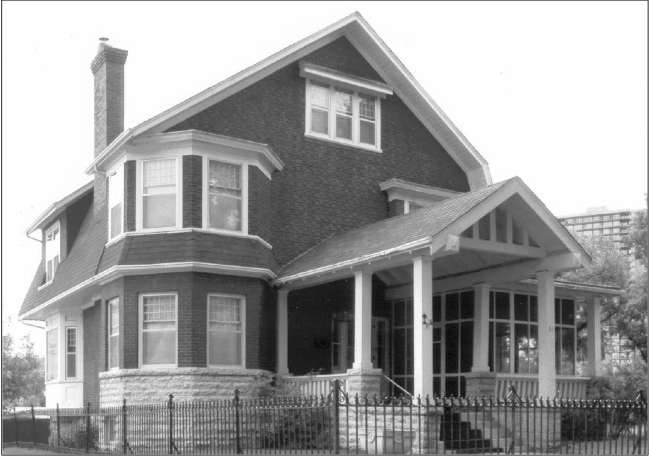 Front facade. Photo courtesy of the City of Winnipeg Historical Report.